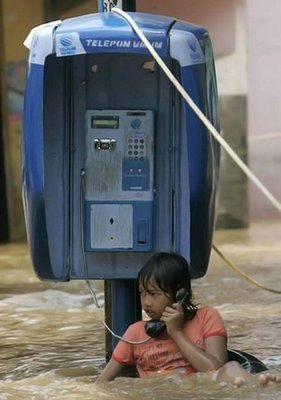 banjir telepon