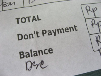 dont payment