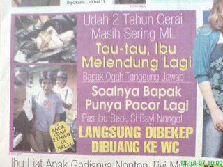 judul koran yang aneh