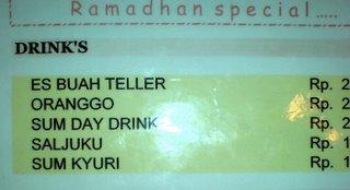 menu yang aneh...
