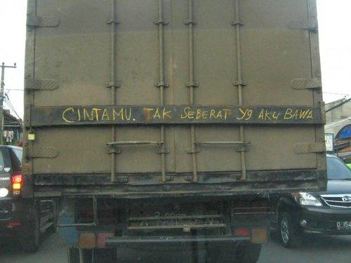 wehh puitis juga nih sopir truk