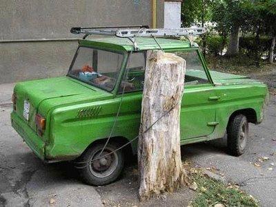 parkir yang aman