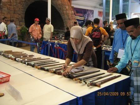 keris di pameran malaysia