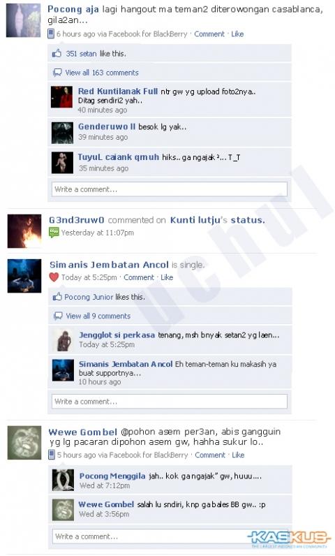 Hantupun Maen Facebook [Funny]