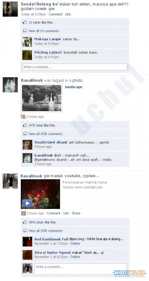 hantu main FB